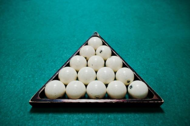 三角形のロシアのビリヤードボール