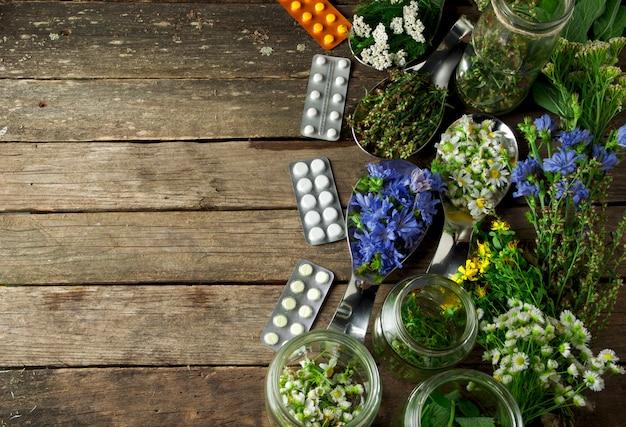 新鮮な薬草。
