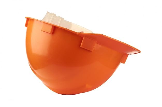 Строительный оранжевый шлем