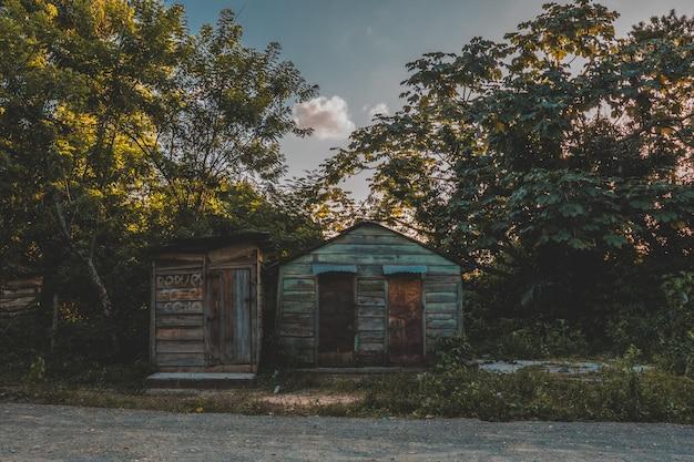ドミニカの典型的な家