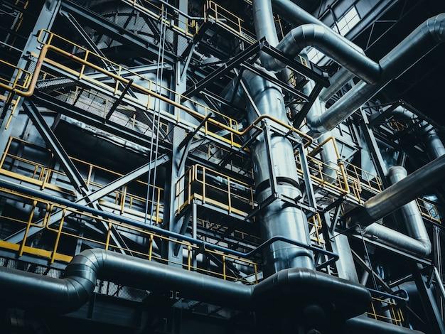 Фон металлических конструкций промышленного завода