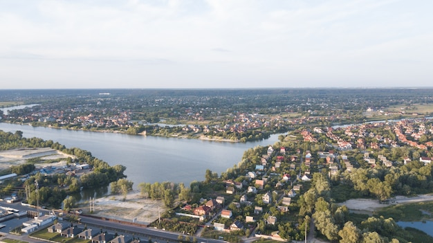 Фондовый воздушный образ жилого района