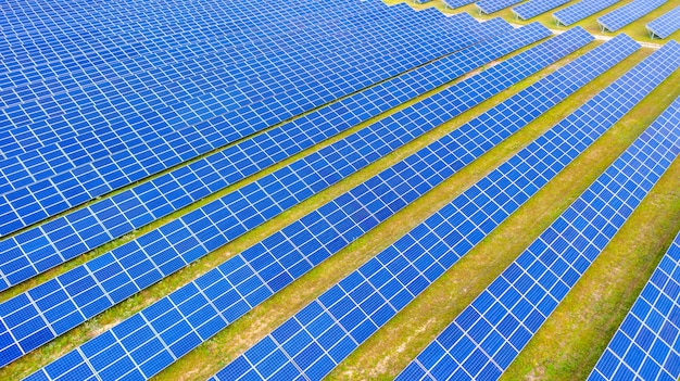 Солнечная ферма аэрофотосъемка