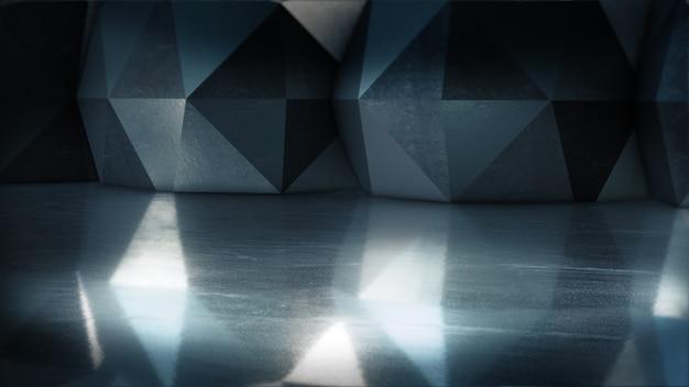 Прожекторная витрина, абстрактное пустое пространство