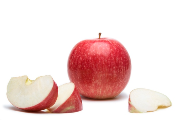Сладкое яблоко с ломтиком