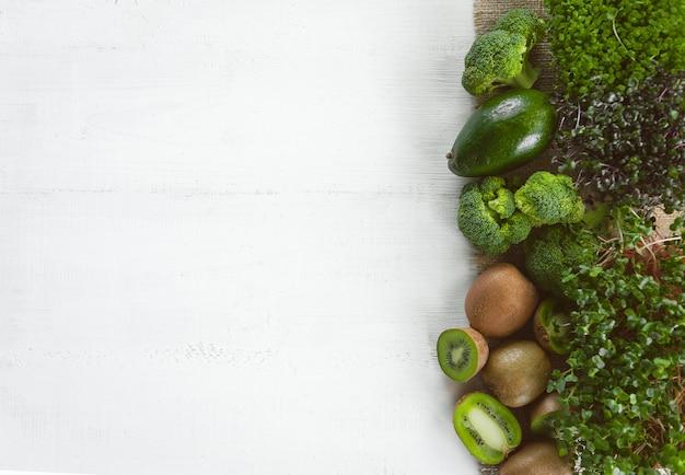 Набор зеленых овощей