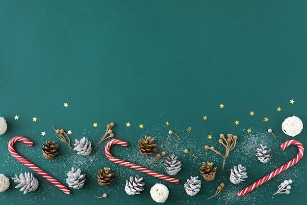 コピースペースでクリスマス、冬、新年のコンセプト