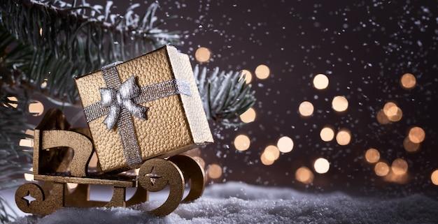 Рождественские каникулы с копией пространства для текста.