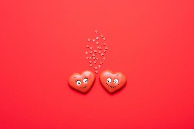 День святого валентина, красные сердца в любви