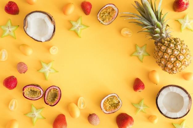Экзотические тропические фрукты