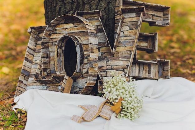 Люблю деревянные буквы с цветами