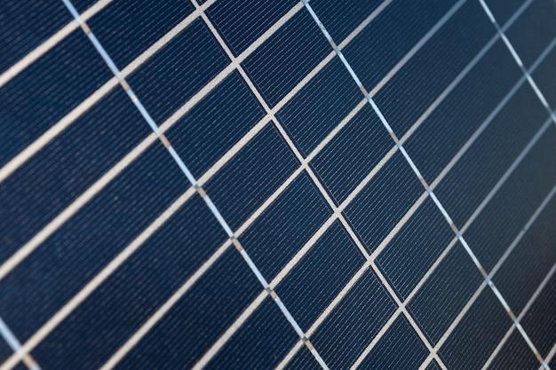 ソーラーパネルのクローズアップの表面