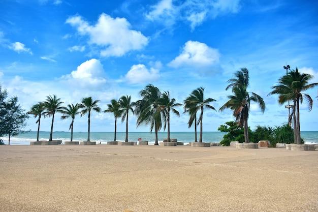 Звук солнечных лучей, ветер небо на пляже и красивый песок