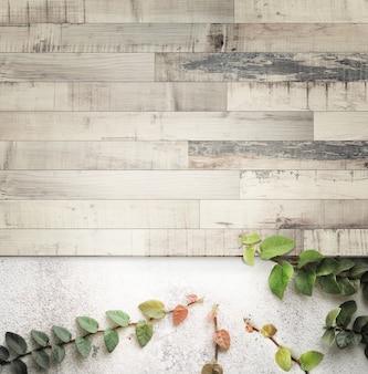 レトロなストライプの木製のコンクリートの壁とイチジク、コピースペースとビンテージトーン。