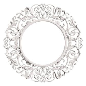 分離された飾り装飾と古典的な白いフレーム