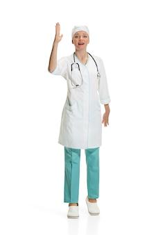 Женский доктор изолированы. концепция здоровья