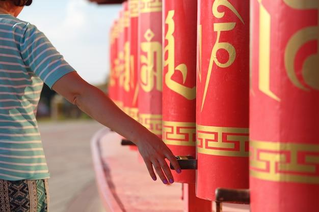 仏教の祈りの輪