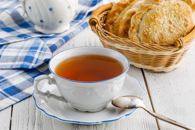 Послеобеденный чай на домашнем столе