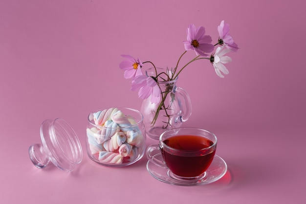 Чашка чайная с зефиром