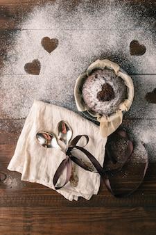 おいしいバレンタインデーのカップケーキ