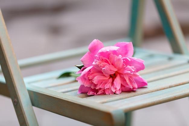 悪いデート、カフェに残された孤独な花