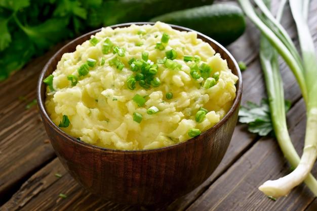 Картофельное пюре с зеленым луком