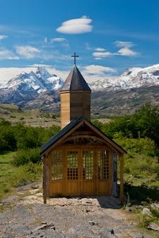 ロスグラシアレス国立公園のエスタンシアクリスティーナ教会