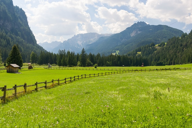 Идиллический горный пейзаж