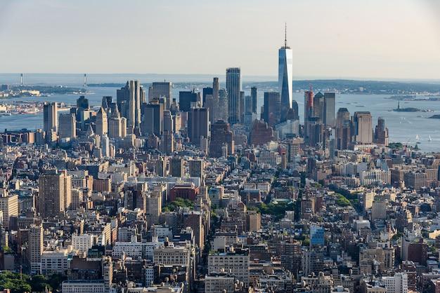 マンハッタンの航空写真