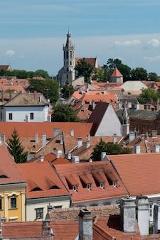 ショプロンの旧市街の屋根