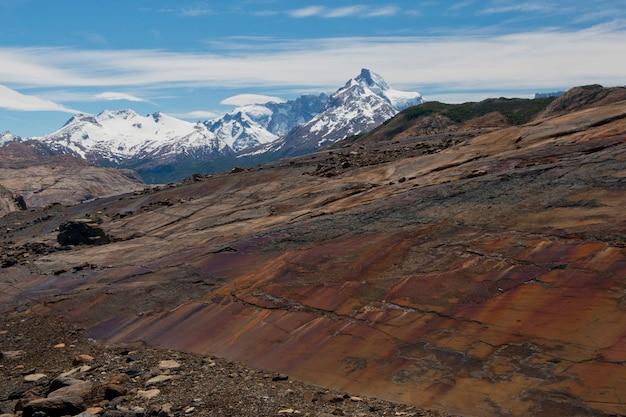 ウプサラ氷河のモレーン