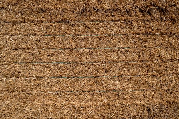 刈った干し草のテクスチャ