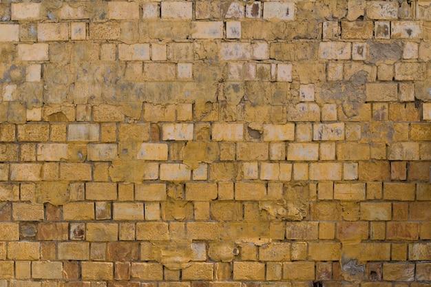 Желтая красная кирпичная стена текстура гранж фон