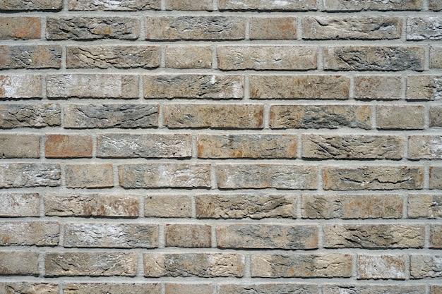 Серая кирпичная стена