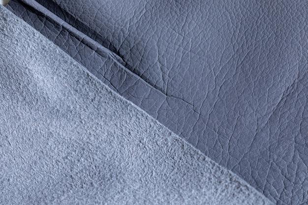 ひだのある自然な灰色の豚革の背景