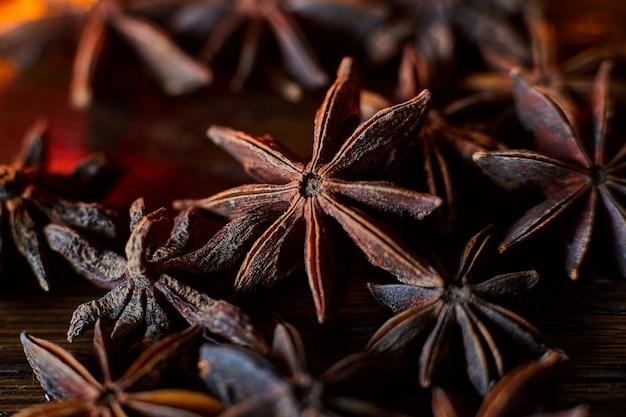 アニス植物のマクロ写真
