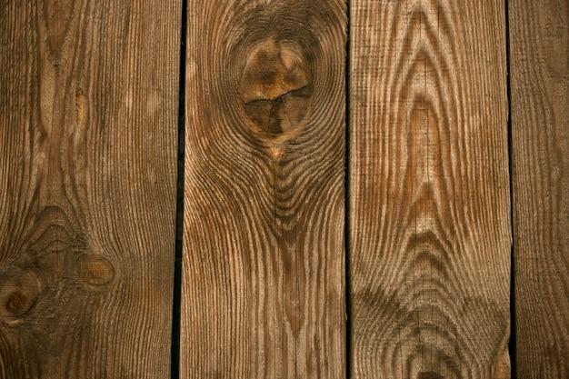 古い木の床の背景。木材のフェンス、机の表面。自然な色、グランジボード、茶色の風化テーブル。