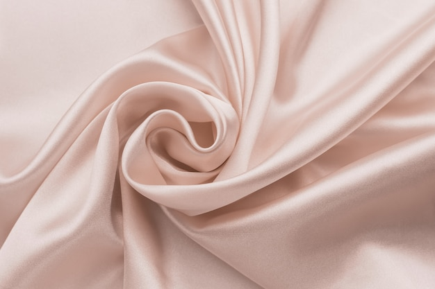 Гладкая морщинистая шелковая простыня, ткань фон. аннотация скомканные атласная текстура.