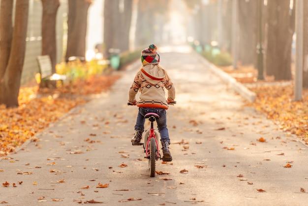 子供乗馬自転車の背面図
