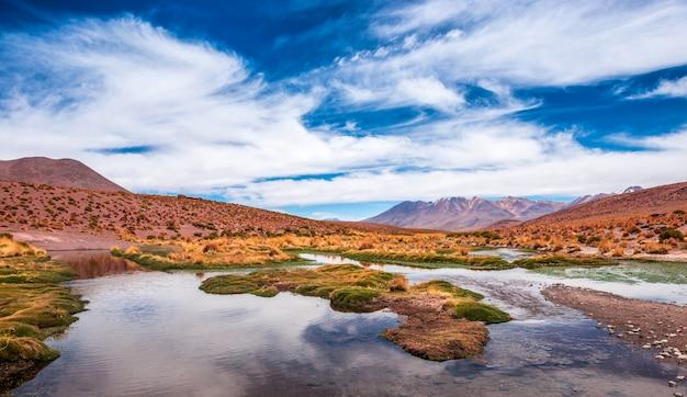 ボリビアのラグーンの風景