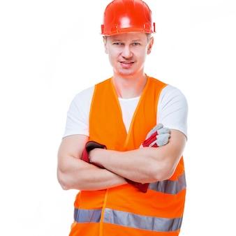 Красивый рабочий человек
