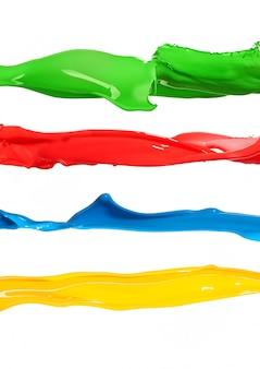 カラフルな液体塗料の飛散