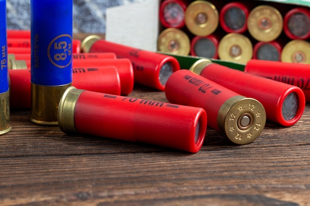 Калибр калибра цветные патроны охотничьи снаряды коробка пакет
