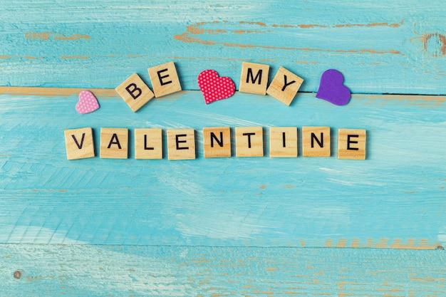 言葉は私のバレンタインになります。バレンタインギフトカードの背景