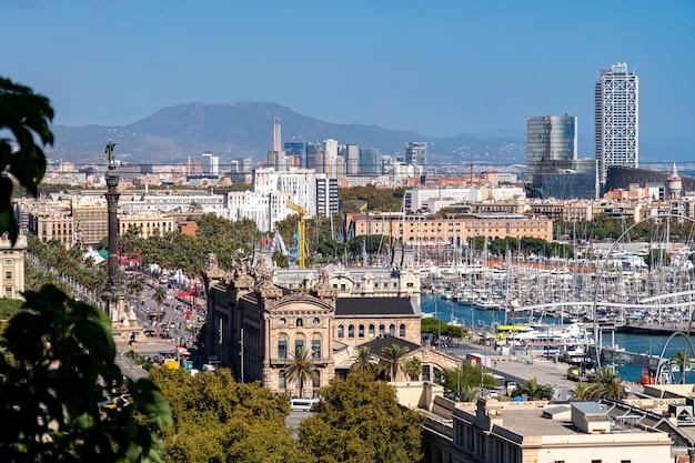 モンジュイック山からのバルセロナの眺め