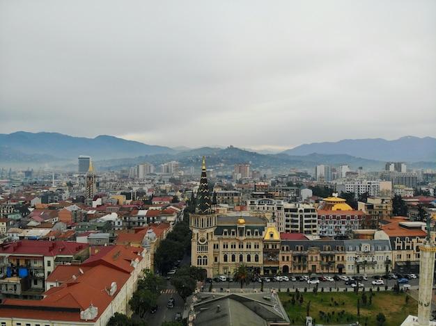 Аэрофотоснимок города батуми в грузии