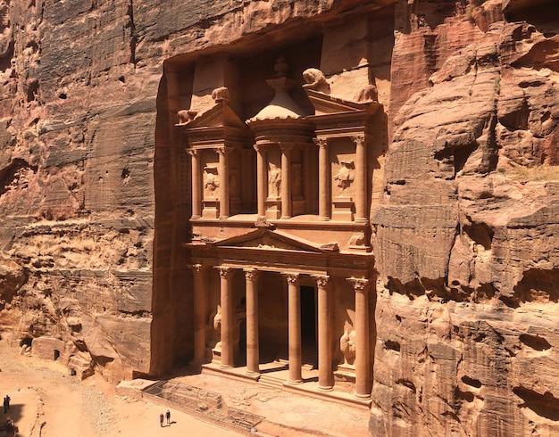 Иордания, петра, древний набатейский город. всемирное наследие юнеско.