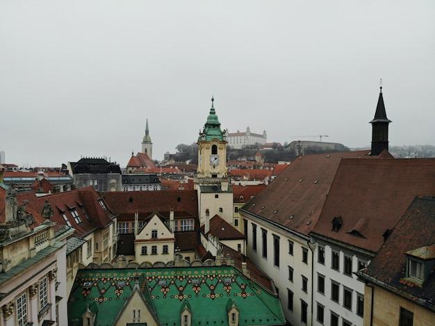 スロバキアのブラチスラバの街の風景
