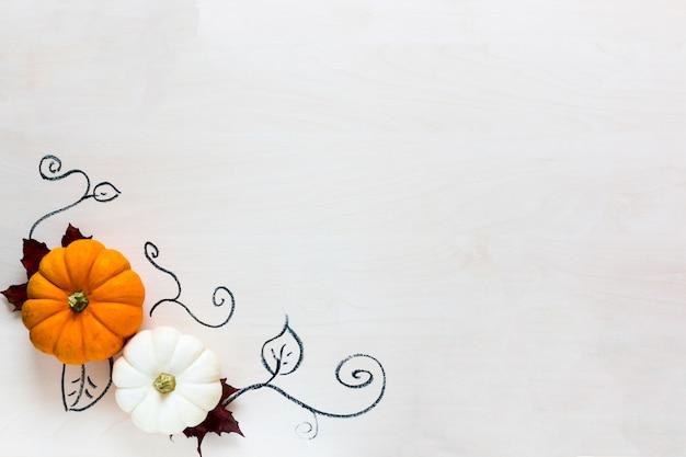 Хэллоуин праздник фон с тыквами