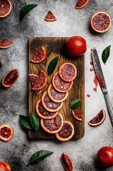 健康的なオレンジ色の果物背景多くのオレンジ色の果物